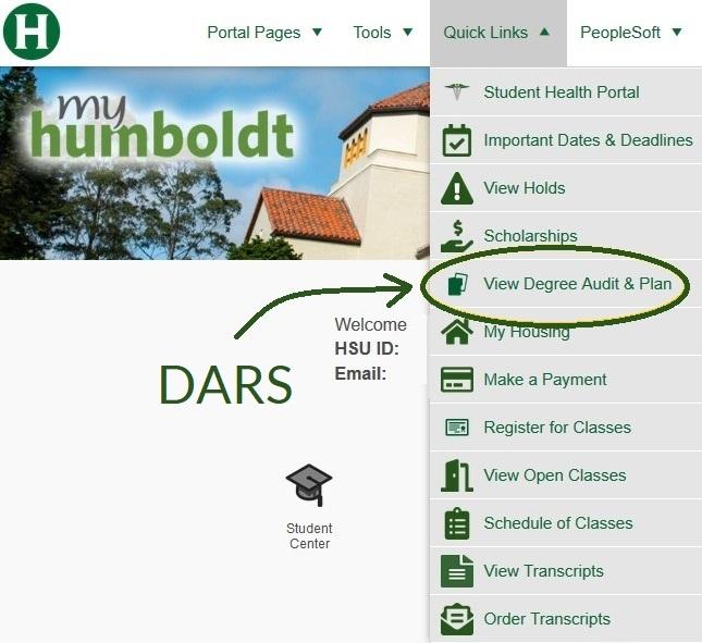 myHumboldt quick links View Degree Audit & Plan