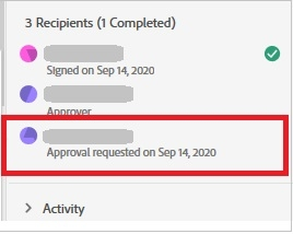 Number of recipients and date completed